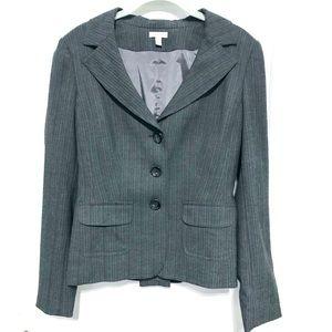 Semantiks three button gray stripe suit blazer